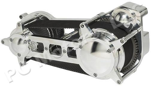 Ultima El Bruto 131 CI Black and Chrome Driveline Engine Motor Kit EVO Harley