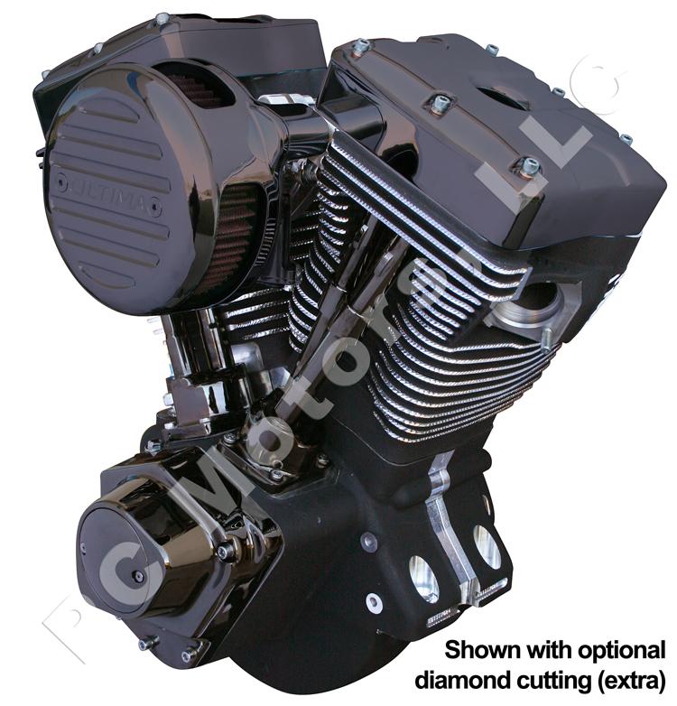 Ultima 113 Ci Black Nickel Plated Chrome Black Gem Engine Motor Evo Harley Ebay