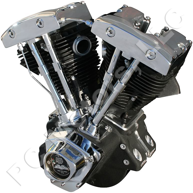 Shovel Motor Parts : Ultima ci chrome black finish shovelhead engine motor