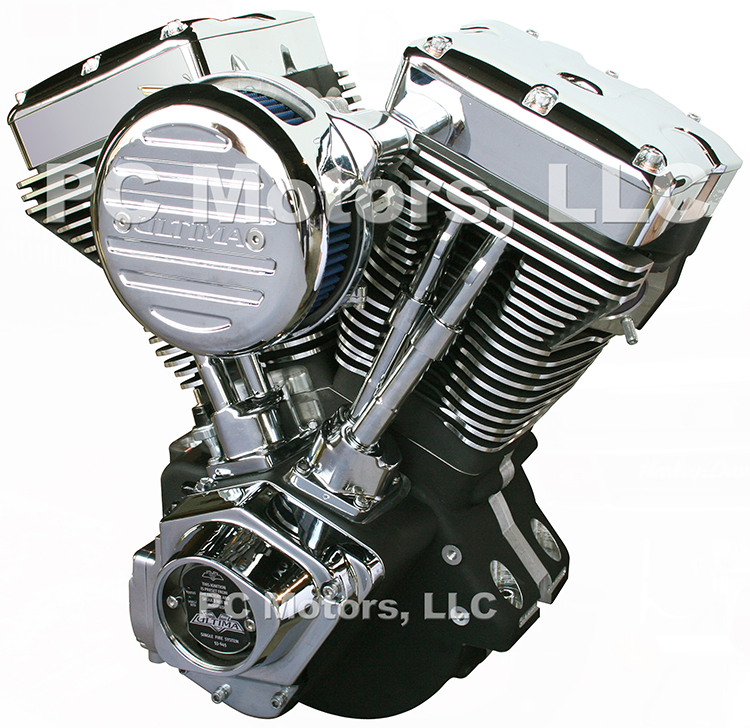 Motorcycle Motor Parts : Ultima el bruto ci black and chrome finish engine